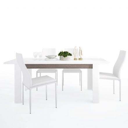 Chelsea Living Extending Dining Table + 4 Milan High Back Chair 4 Colour Options